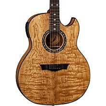Exhibition Quilt Ash Acoustic-Electric Guitar with Aphex Gloss Natural
