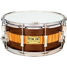 Exotic Rosewood Zebrawood Snare Drum 14 x 6.5 in.