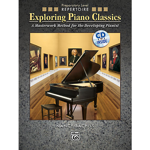 Alfred Exploring Piano Classics Repertoire Preparatory Level Preparatory Book & CD