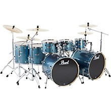 Export Double Bass 8-Piece Drum Set Aqua Blue Glitter