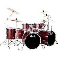 Export Double Bass 8-Piece Drum Set Black Cherry Glitter