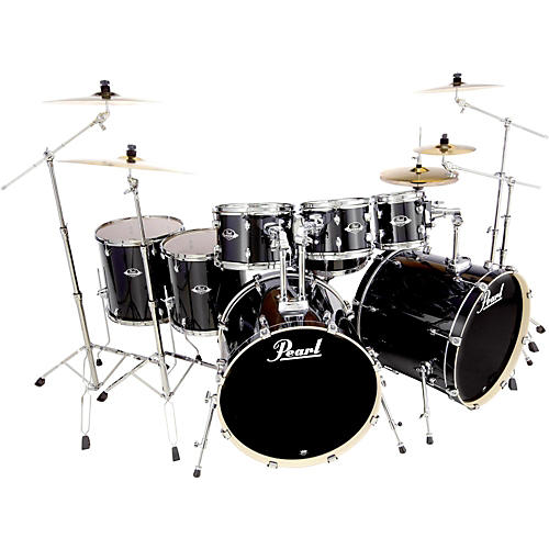 An Unbeatable Deal on a Full Set of DrumsThe Pearl Roadshow is an already great deal on a full set of drums. And when you factor in an included Wuhan cymbal pack and complete outfit of Pearl hardware and accessories, it's downright unbeatable.