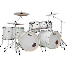 Export Double Bass 8-Piece Drum Set Pure White