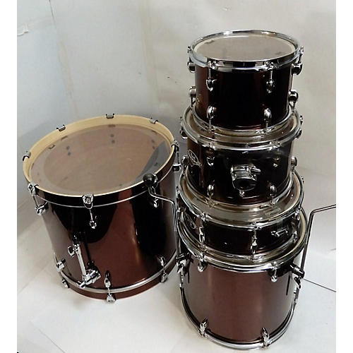 used pearl export drum kit wine red guitar center. Black Bedroom Furniture Sets. Home Design Ideas