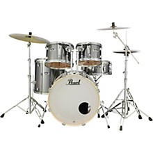 Export New Fusion 5-Piece Drum Set with Hardware Smokey Chrome