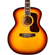 F-512E Maple Jumbo 12-String Acoustic-Electric Guitar Antique Burst