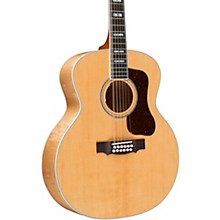 F-512E Maple Jumbo 12-String Acoustic-Electric Guitar Natural