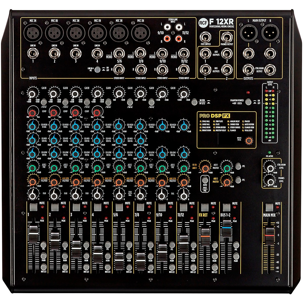 RCF F12-XR 12 Channel Mixer w/ FX and Recording