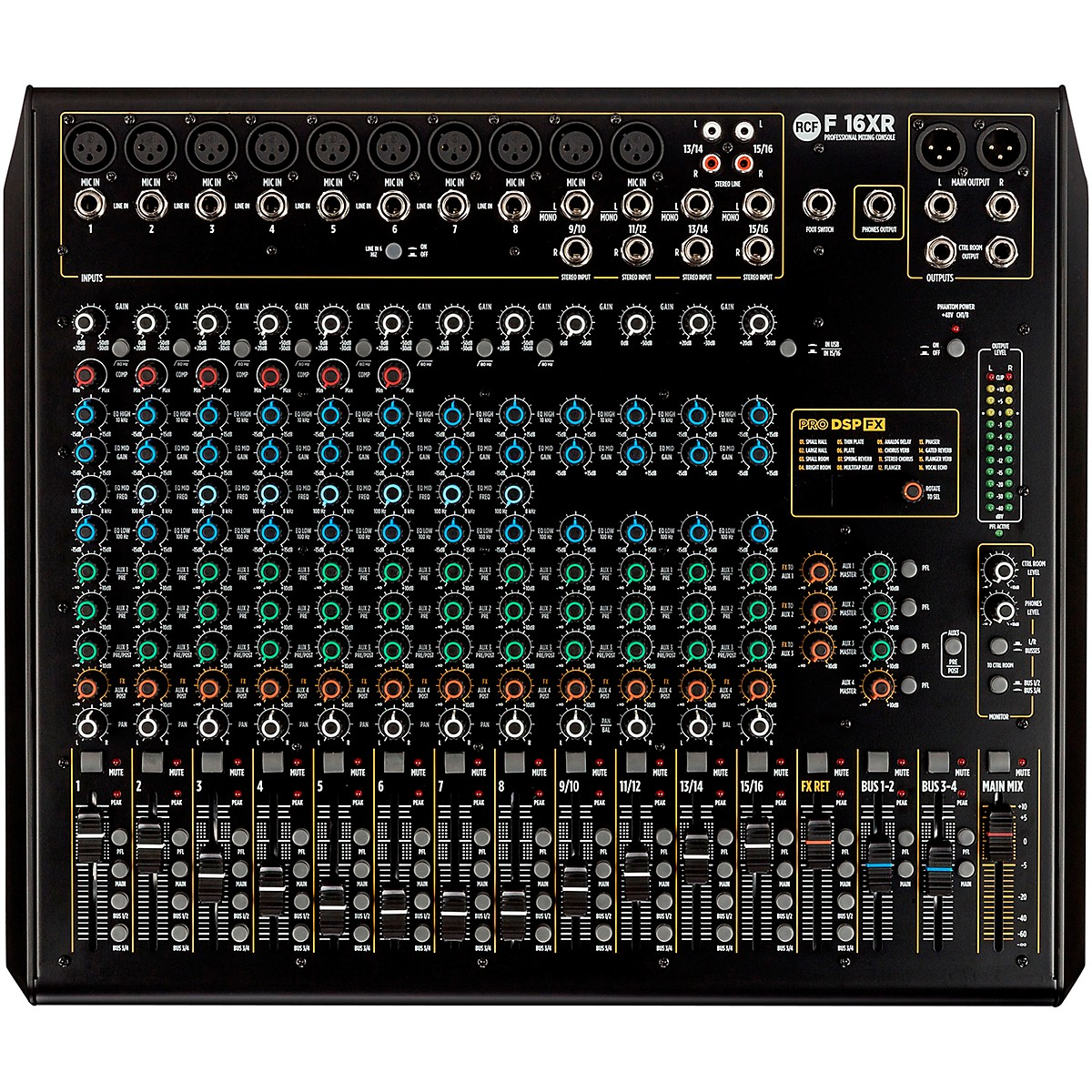 RCF F16-XR 16 Channel Mixer with FX and Recording