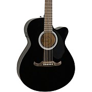 FA-135CE Concert Acoustic-Electric Guitar Black