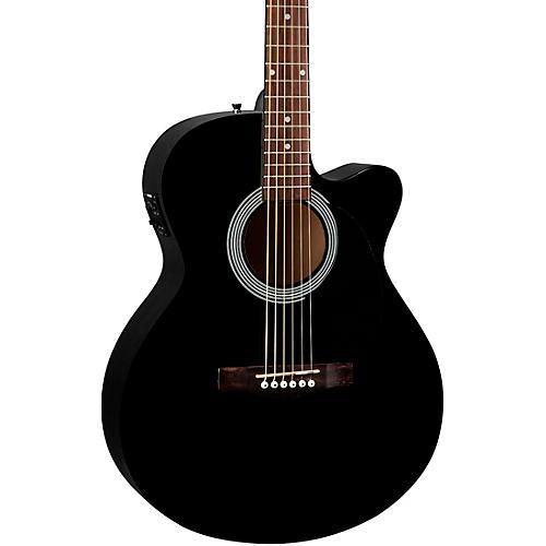fender fa 135ce cutaway concert acoustic electric guitar black guitar center. Black Bedroom Furniture Sets. Home Design Ideas