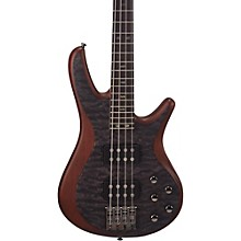 FB700 Fusion Series Bass Guitar with Active EQ Transparent Black