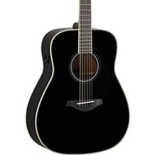 FG-TA TransAcoustic Dreadnought Acoustic-Electric Guitar Black