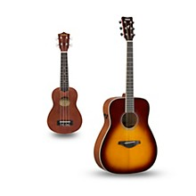 FG-TA TransAcoustic Dreadnought Acoustic-Electric Guitar and Ukulele Package Brown Sunburst