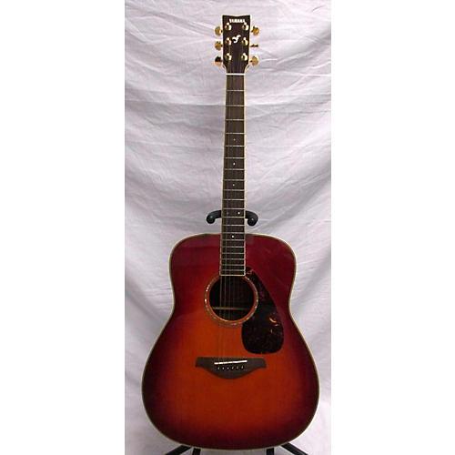 used yamaha fg735s acoustic guitar cherry sunburst guitar center. Black Bedroom Furniture Sets. Home Design Ideas