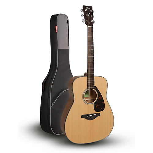 Yamaha FG800 Folk Acoustic Guitar Natural with Road Runner RR1AG Gig Bag