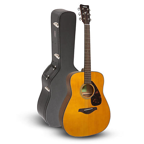 Yamaha FG800 Folk Acoustic Guitar, Vintage Tint with Road Runner RRDWA Acoustic Case