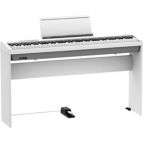 Roland FP-30X Digital Piano with Matching Stand and DP-10 Damper Pedal