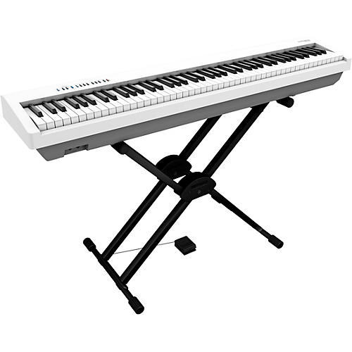 Roland FP-30X Digital Piano with Roland Double Brace X-Stand and DP-2 Pedal