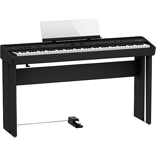 Roland FP-90X Digital Piano with Matching Stand and DP-10 Pedal