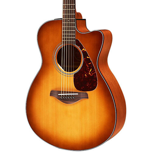 yamaha fsx700sc solid top concert cutaway acoustic electric guitar sand burst guitar center. Black Bedroom Furniture Sets. Home Design Ideas