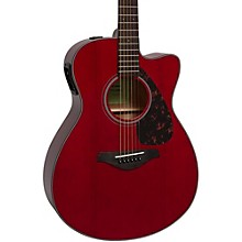 FSX800C Small Body Acoustic-Electric Guitar Ruby Red