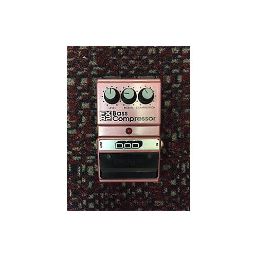 In Store Used FX82 BASS COMPRESSOR SALMON Bass Effect Pedal