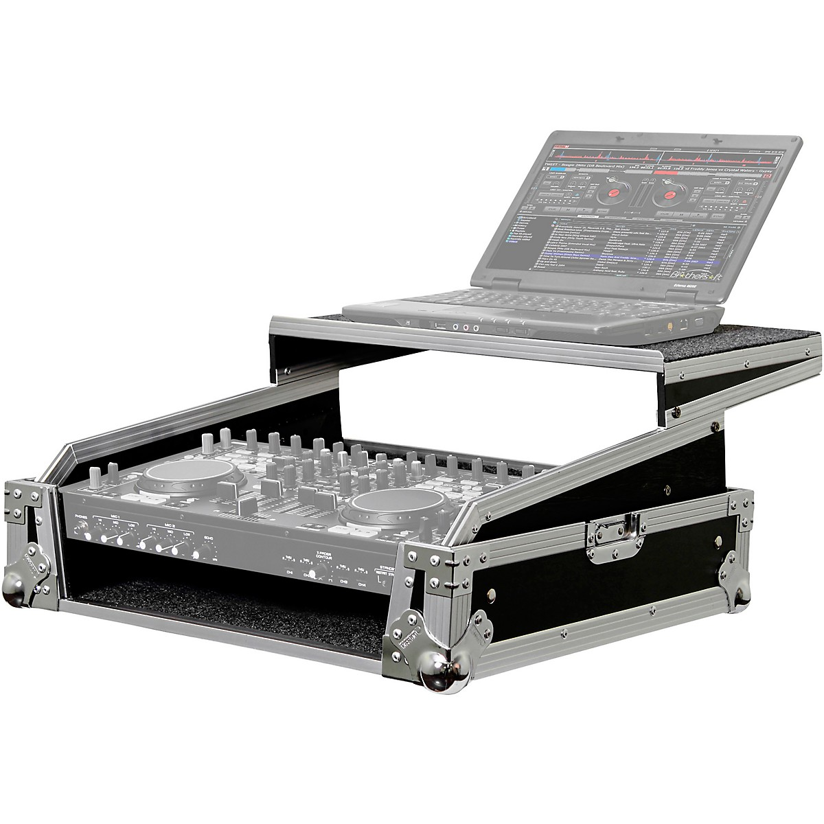 Odyssey FZGS8CDMIX Flight Zone Glide Style Rackmount Case for DJ Controllers & Front Load CD/Digital Media Mixers