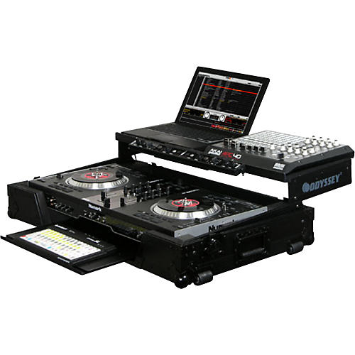 Odyssey FZGSNS7WFXBL Glide Style DJ Coffin Case for Numark NS7FX