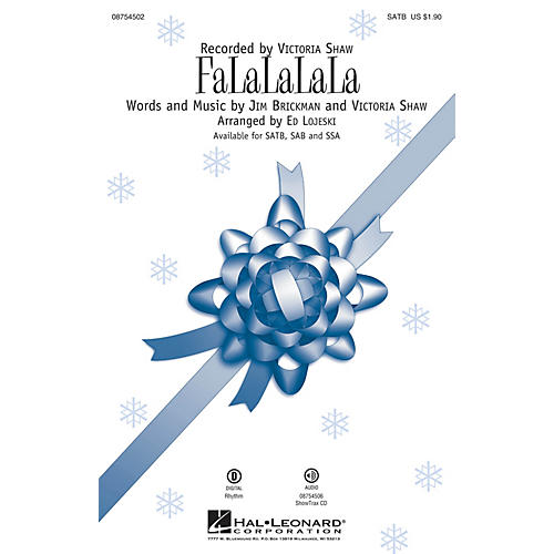 Hal Leonard FaLaLaLaLa SATB by Victoria Shaw arranged by Ed Lojeski