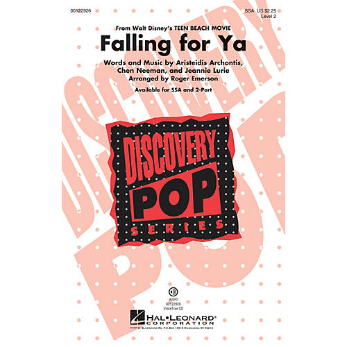 Hal Leonard Falling for Ya (from Disney Teen Beach Movie Discovery Level 2) SSA arranged by Roger Emerson