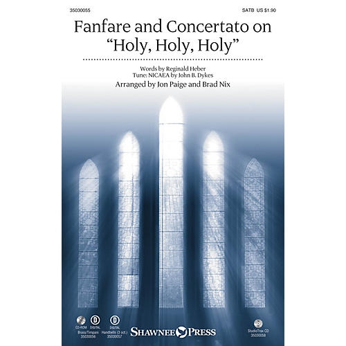 Shawnee Press Fanfare and Concertato on Holy, Holy, Holy SATB/CONGREGATION arranged by Jon Paige