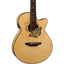 Luna Guitars Fauna Butterfly-Acoustic Electric Guitar