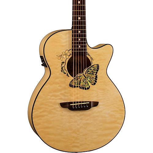 Luna Guitars Fauna Butterfly-Acoustic Electric Guitar