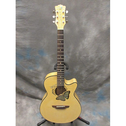 Luna Guitars Fauna Butterfly Acoustic Electric Guitar