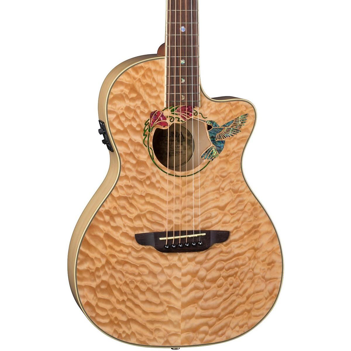 Luna Guitars Fauna Humminbird Acoustic-Electric Guitar