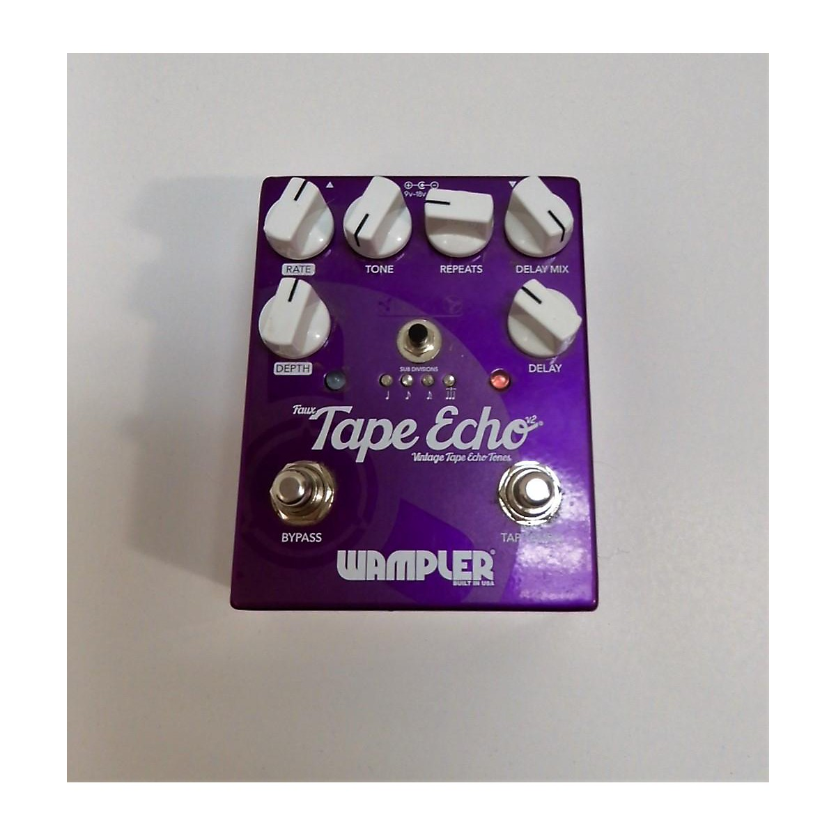 Used Wampler Faux Tape Echo Delay V2 Effect Pedal
