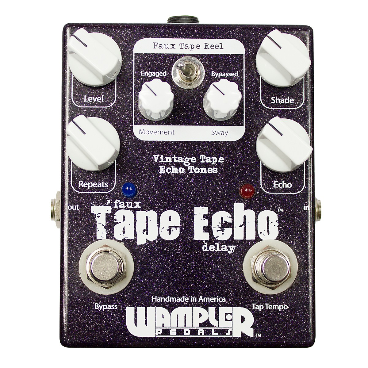 Wampler Faux Tape Echo/Delay With Tap Tempo Guitar Effects