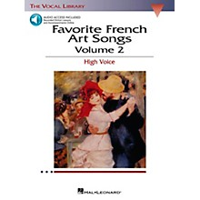 Hal Leonard Favorite French Art Songs for High Voice Volume 2 Book/CD