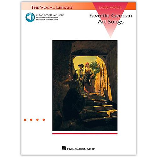 Hal Leonard Favorite German Art Songs for Low Voice (Book/Online Audio)
