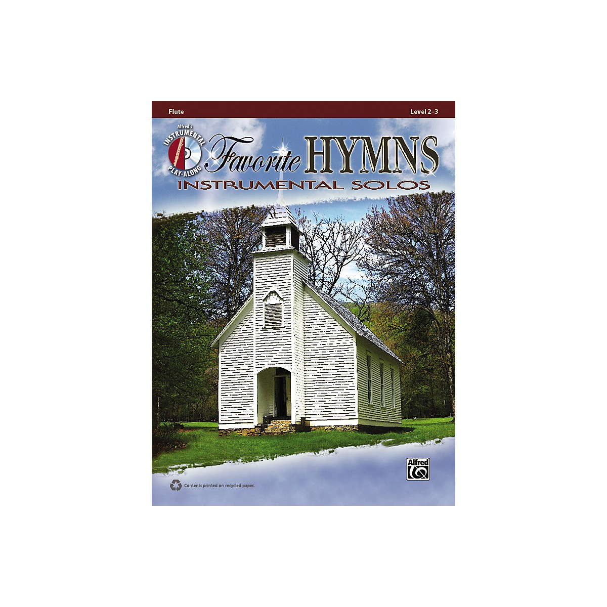 Alfred Favorite Hymns Instrumental Solos Flute Book & CD