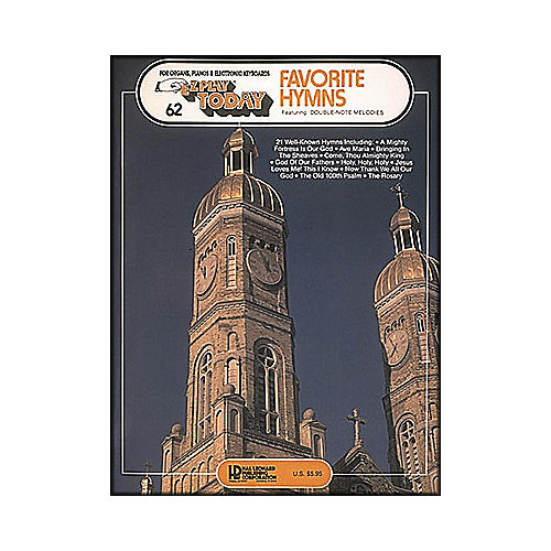 Hal Leonard Favorite Hymns with Double Note Melodies E-Z Play 62