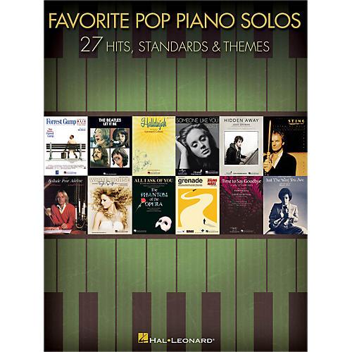 Hal Leonard Favorite Pop Piano Solos songbook