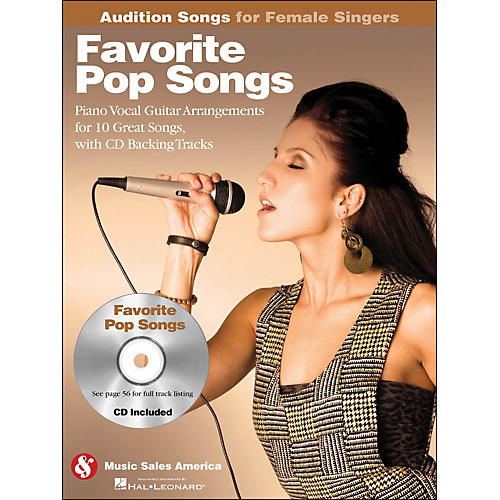 Hal Leonard Favorite Pop Songs - Audition Songs for Female Singers Book/CD