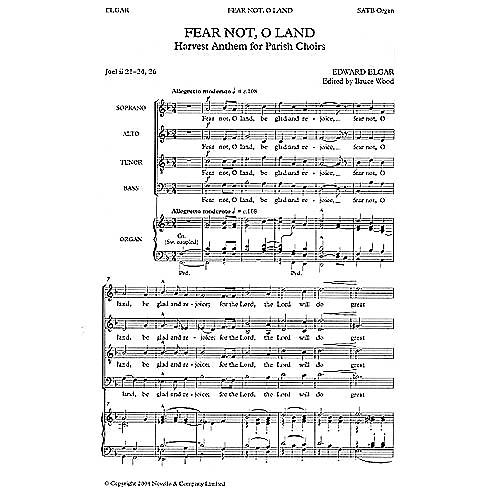 Novello Fear Not, O Land Composed by Edward Elgar
