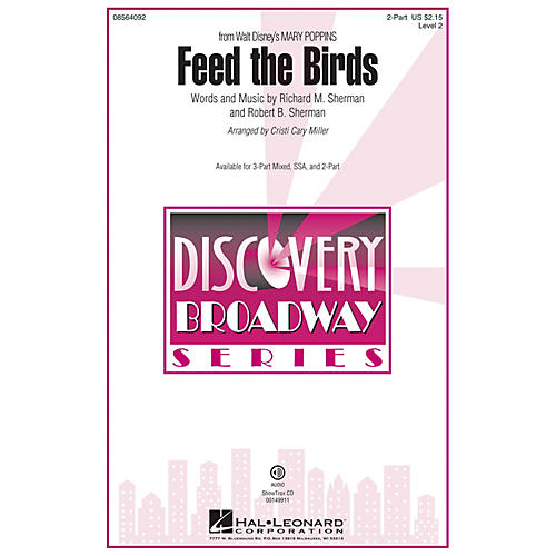 Hal Leonard Feed the Birds (from Mary Poppins) 2-Part arranged by Cristi Cary Miller