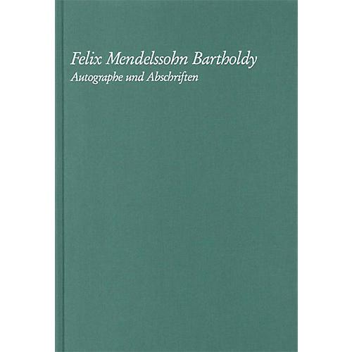 G. Henle Verlag Felix Mendelssohn Bartholdy - Autographe Und Abschriften Henle Books Series Hardcover