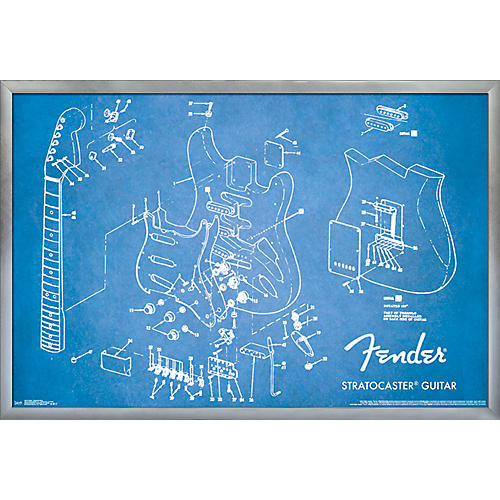 Trends International Fender - Exploded Strat Poster