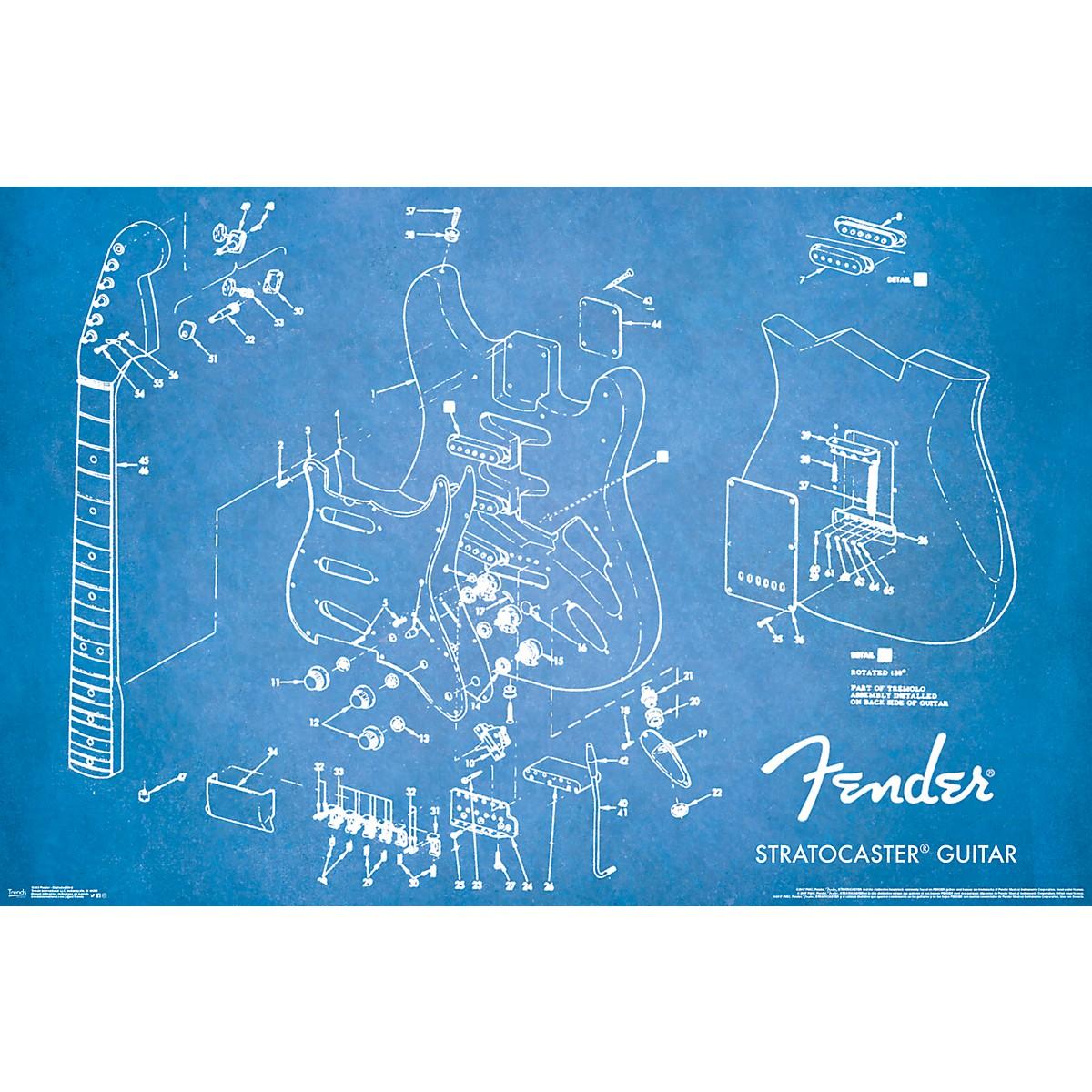 Trends International Fender - Exploded Strat Poster