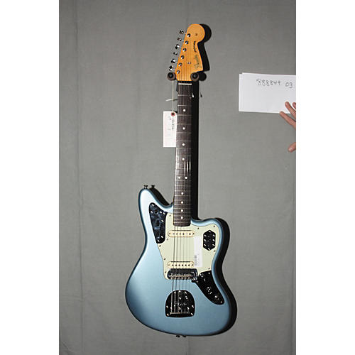 Used Fender 62 Jaguar Electric Guitar Ice Blue Metallic with Mint Green Pickguard